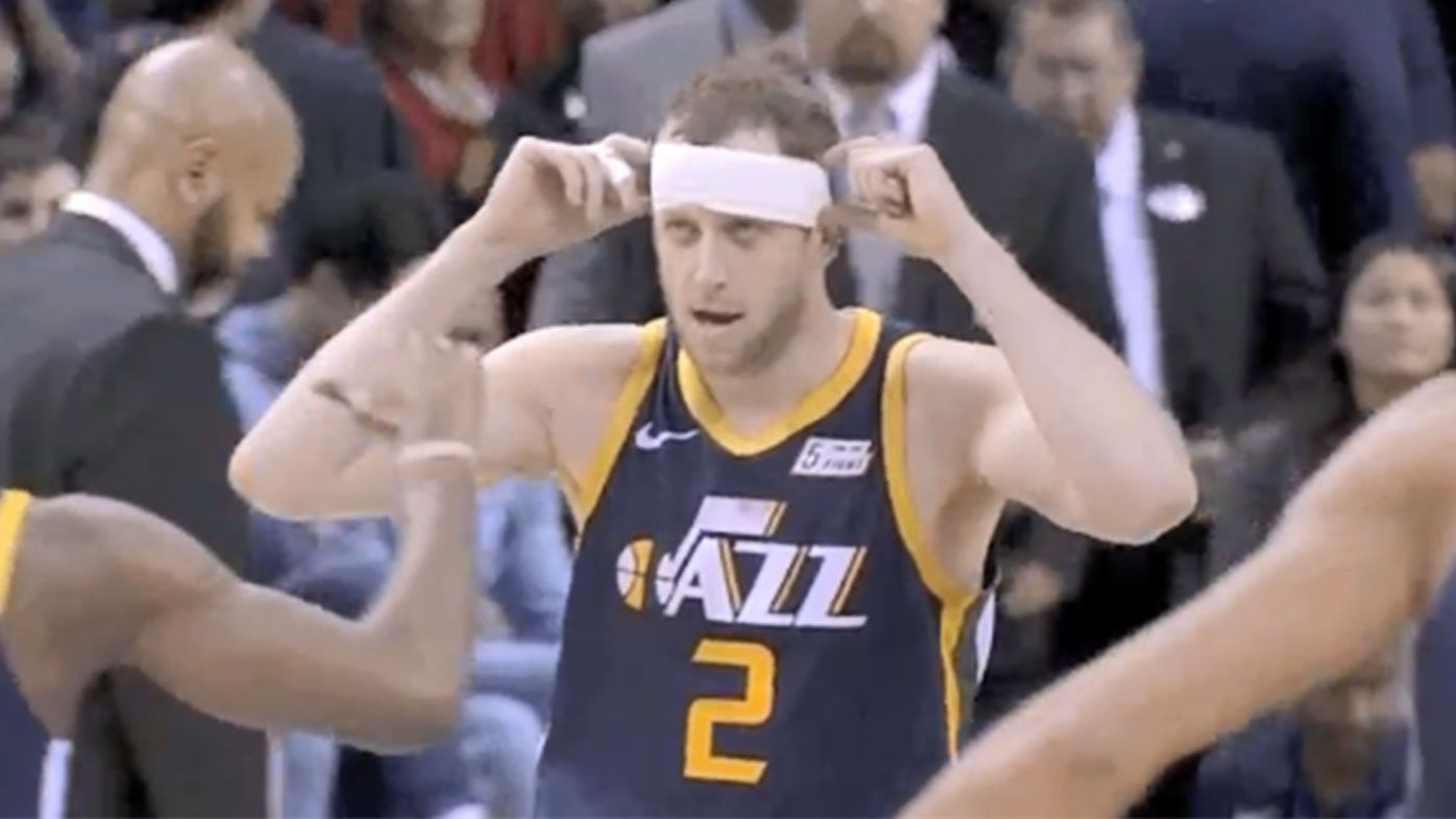 'Headband' Joe Ingles knocks down clutch triple to lead Utah Jazz to third consecutive win