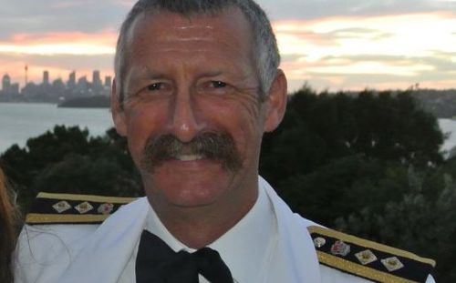 Australian Navy Captain Jim Hutton says the ship is nothing to be concerned over. Photo: Facebook