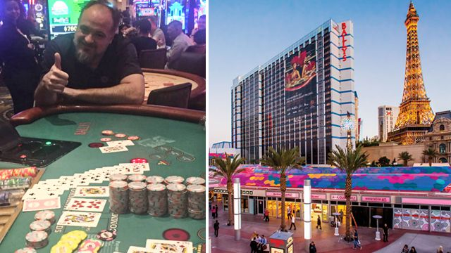Kenneth Snoots, a Maryland resident, hit a royal flush while playing Mississippi Stud on Thursday at Bally's on the Las Vegas Strip
