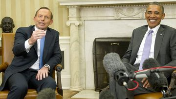 Tony Abbott meeting with US President Barack Obama in the White House in June this year. (AAP)