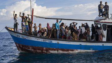 Rohingya Muslims adrift
