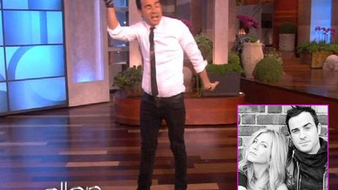 Video: Justin Theroux is an amazing break dancer (Jennifer Aniston is 'obsessed'!)