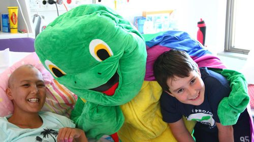 Bryce U'ren's mission is to give a Super Max the Turtle night-light to every child suffering from cancer in Australia and New Zealand.
