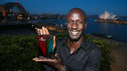 Australian of the Year finalist: Deng Adut calls on troubled children of refugees to 'open your heart to Australia'