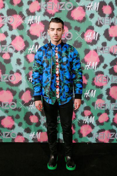 Joe Jonas at H&M x Kenzo