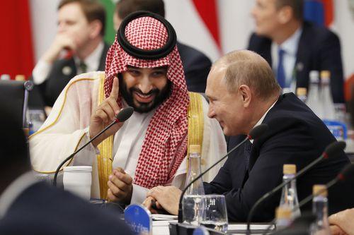 Saudi Arabia's Crown Prince Mohammed bin Salman, left, and Russian President Vladimir Putin were all smiles during the G20.