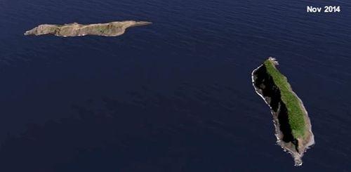 The island pictured in 2014. Picture: NASA Scientific Visualisation Studio