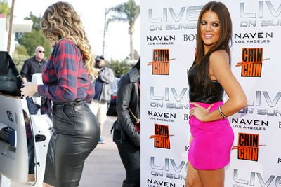 Introducing, Khloe Kardashian's <i>very</i> noticeable butt. <br><br>What do you think FIXers? Has the 30-year-old been doing more squats, competing with sister Kim in a champagne-balancing competiton or has she gone under the knife?