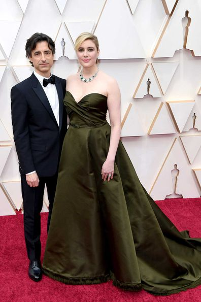 Director Noah Baumbach and Greta Gerwig attend the 92nd Annual Academy Awards.
