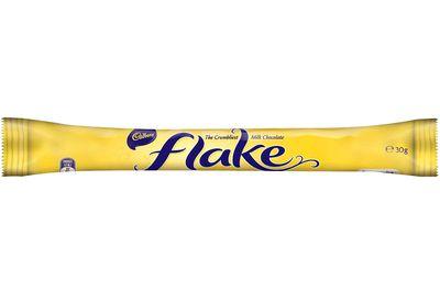 Flake (30g bar): 161 calories/674kj