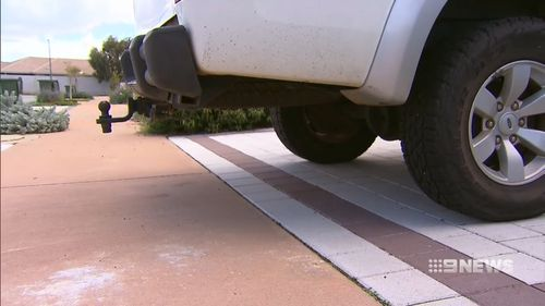 Council said the car's tow bar was a safety concern. Picture: 9NEWS