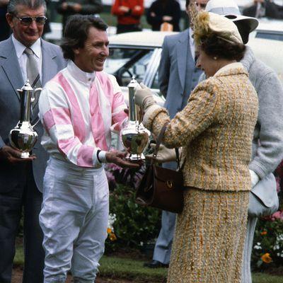 Queen Elizabeth at Melbourne Cup 1981.
