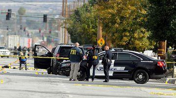 FBI, San Bernardino City and San Bernardino County Sheriff's officials continue documenting and investigating. (AAP)
