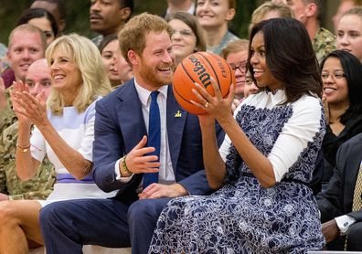 Harry and Michelle Obama worked together on projects to help wounded servicemen and veterans.