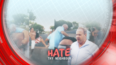 Bloody neighbour dispute caught on camera