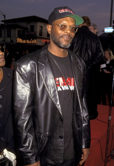 Samuel L. Jackson during Die Hard With A Vengeance Los Angeles premiere at Mann Village Theater in Westwood, California, United States in 1995.