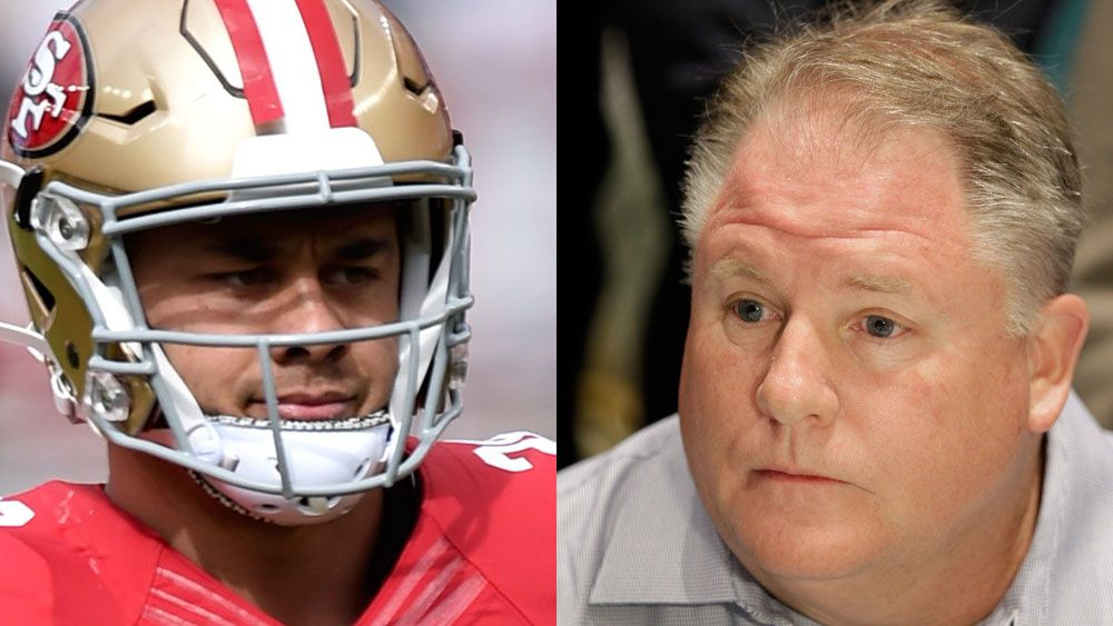 Jarryd Hayne and Chip Kelly. (AAP)