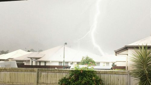 Forget the fireworks: parts of Queensland lit up with spectacular lightning. (9NEWS)