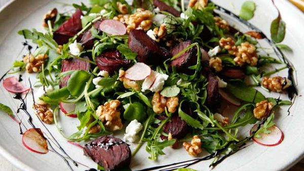 Brooke Meredith's roasted beetroot and candied walnut salad