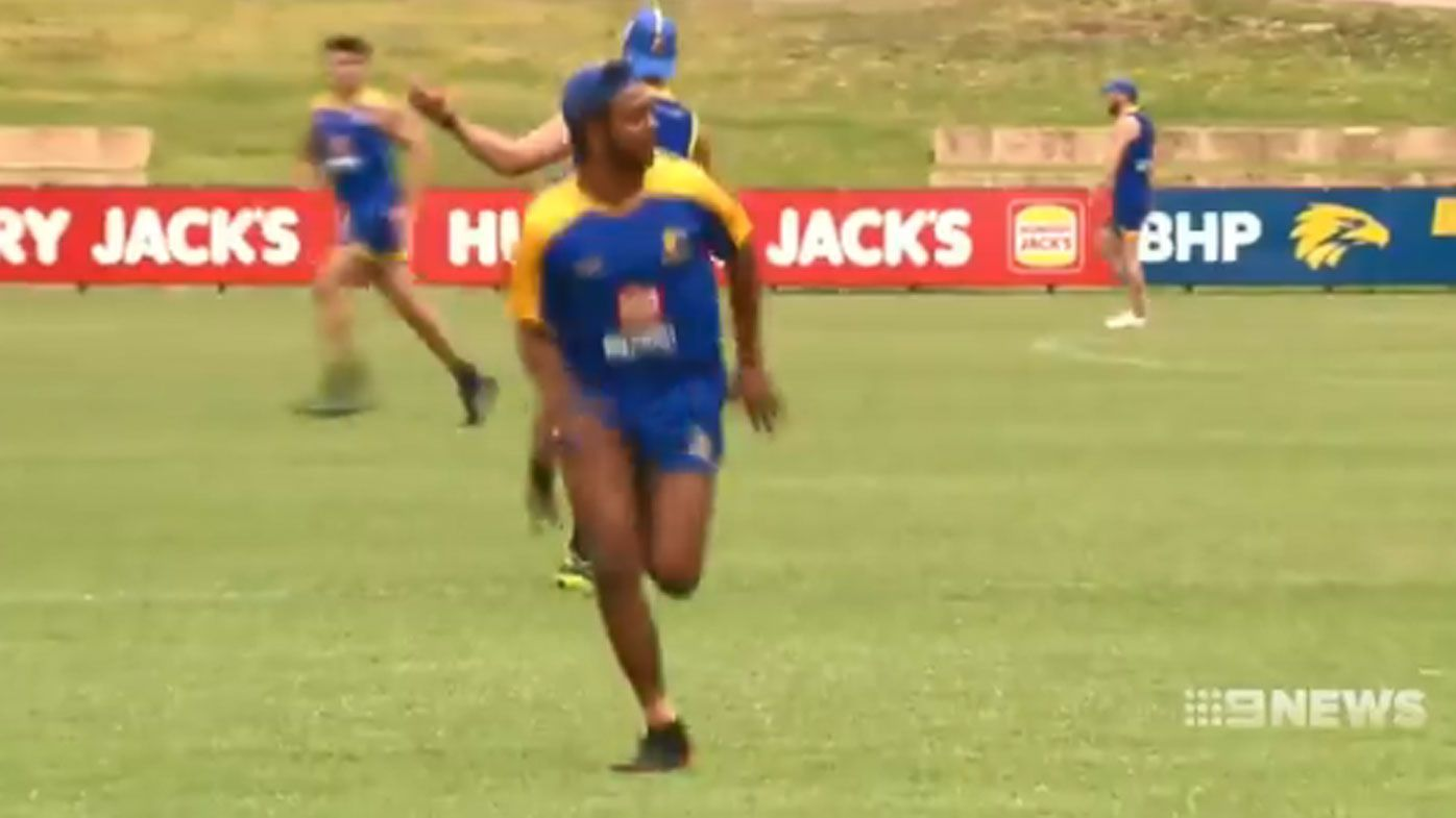 'It's good to be back': Banned Willie Rioli returns to West Coast Eagles training