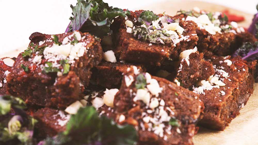 Kalette brownies with hidden veg