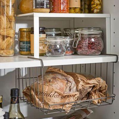Under cupboard basket
