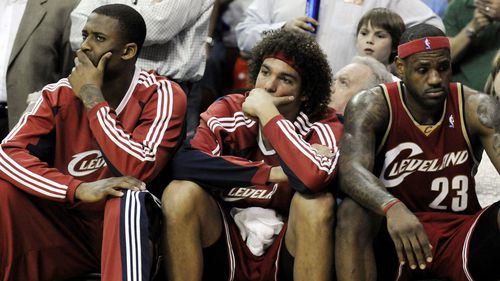 Lorenzen Wright, Anderson Varejao and LeBron James played together for the Cleveland Cavaliers.