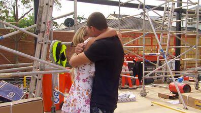 Luke's fiancée Olivia visits The Block site