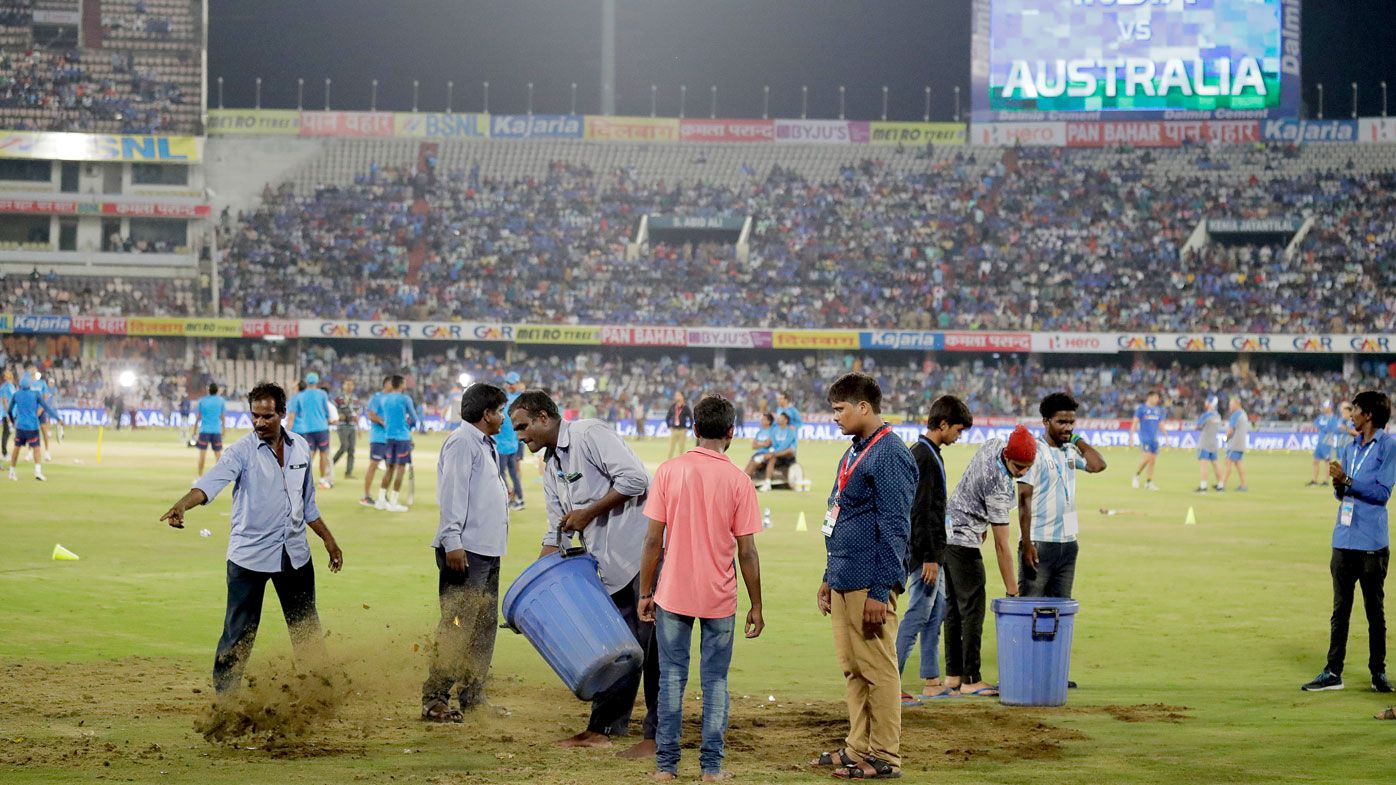 Australia-India T20 abandoned in Hyderabad