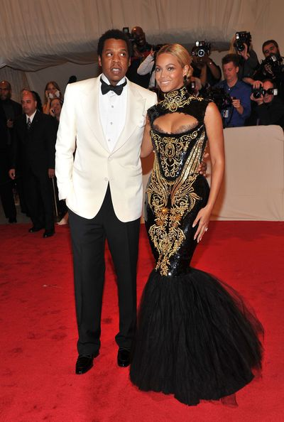 Beyonce in Pucci and Jay- Z at Alexander McQueen: Savage Beauty 2011 Met Gala