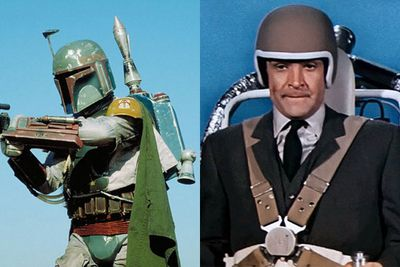 Sure, they exist. But why aren't we all wearing them? We particularly want that one Sean Connery jetted around in for <i>Thunderball</i> (1965) or the one Boba Fett used in <i>Star Wars</i>.<br/><br/>The reality is that Jet Packs have been in development since the '40s, but the physics limitations of making a human being actually fly is what's stopping us from literally jetting over to our mate's house for an impromptu gaming sesh. <br/><br/>(Image:Left - <i>Star Wars</i> / Disney / LucasFilm. Right - <i>Thunderball</i> / Warner Home Video)