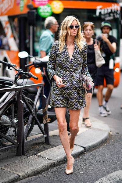 Nicky Hilton at Schiaparelli Haute Couture A/W 18/19 show in Paris, July 2018