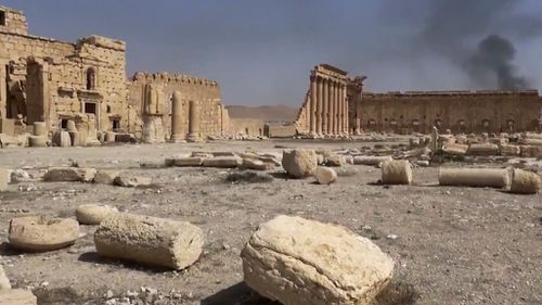 """The terror group have proclaimed Palmyra their """"caliphate"""". (AAP)"""