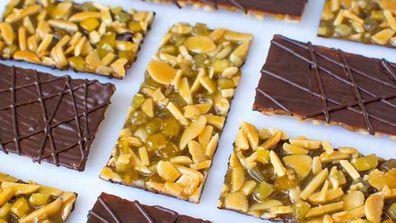 Chocolate, orange and cumin Florentine