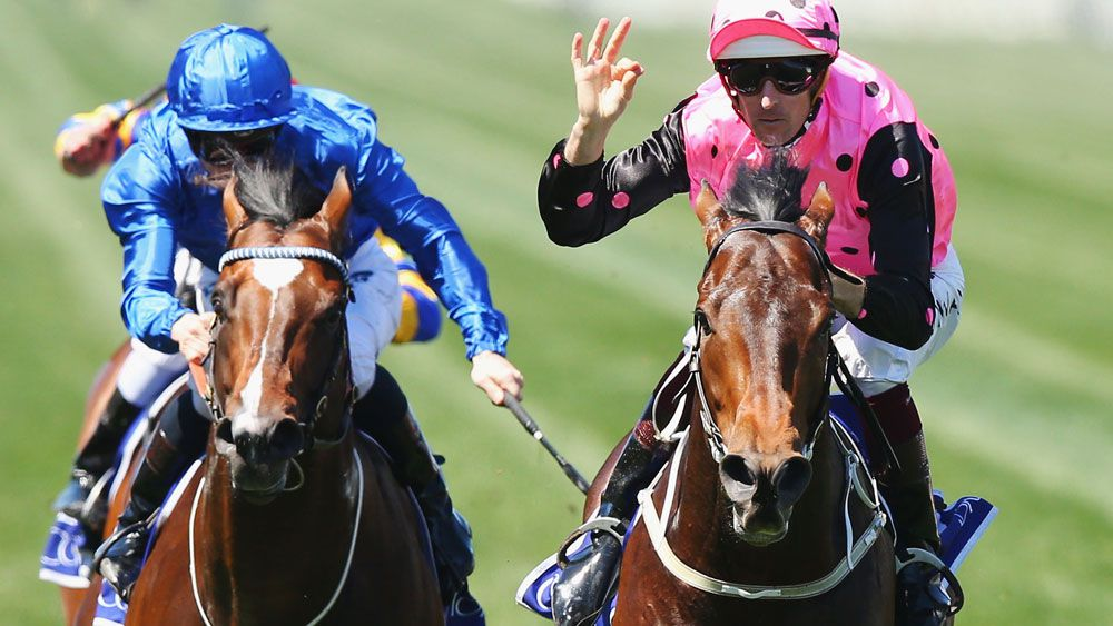 Flying Artie scored a major upset in the Coolmore Stakes. (Getty Images)
