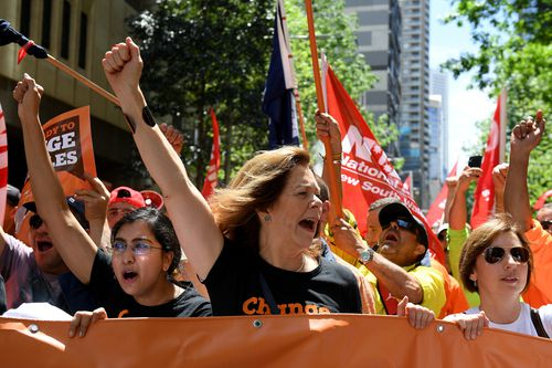 The rally in Sydney was 10,000 workers strong.