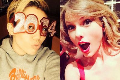 Flick through the pics to find out how all your favourite stars celebrated New Year's Eve...