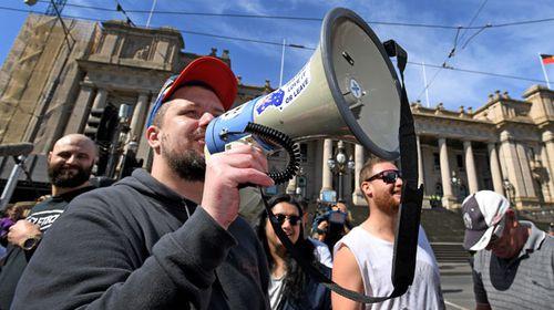 Neil Erikson stood trial alongside Chris Shortis and Blair Cottrell over the 2015 beheading stunt. (AAP)
