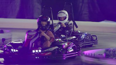 Lachlan shows Josie his world as they enjoy a Go-Karting date