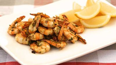 "<a href=""http://kitchen.nine.com.au/2016/12/13/10/58/barbecued-coriander-and-pepper-prawns"" target=""_top"">Barbecued coriander and pepper prawns</a><br /> <br /> <a href=""http://kitchen.nine.com.au/2016/12/13/15/58/choosing-the-best-seafood-for-christmas"" target=""_top"">RELATED: How to choose the best seafood for Christmas</a>"