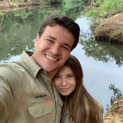 Chandler Powell and Bindi Irwin.