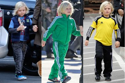 The youngest of the Stefani/Rossdale clan loves his sporty street wear and colourful Cons... <br/>