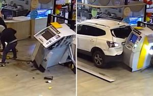 CCTV shows duo fail in attempts to rip ATM from Cranbourne East shopping centre
