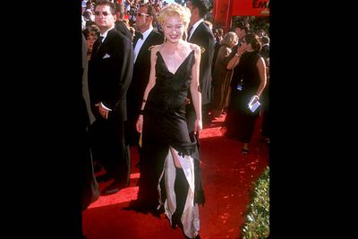 <b>Where she wore it:</b> The 51st Annual Emmy Awards, 1999.<br/><br/><b>The look:</b> Hmmm, maybe it's not so surprising that Portia turned out to be a lesbian.