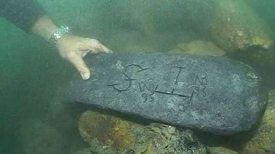 A 50kg silver bar was brought to shore on the island of Sainte Marie, from what is thought to be the sunken wreck of Kidd's ship.