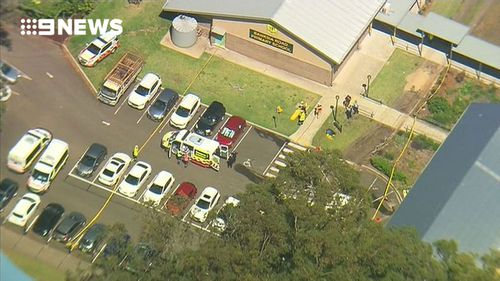 Seventeen other children and one adult female teacher were assessed by paramedics on the grounds of the school. (9NEWS)