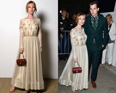 <p>Josephine de la Baume's arm candy, in the form of husband Mark Ronson.</p>