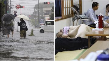 Heavy rains have forced a million locals in Japan to evacuate amid fears of mass flooding and landslides.