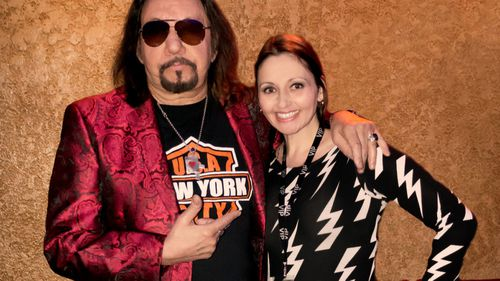Ms Christine pictured with former KISS guitarist Ace Frehley.