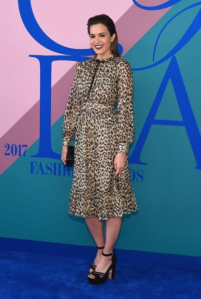 Mandy Moore in Kate Spade at the 2017 CFDA Awards.